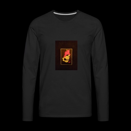 Dripping Skull - Men's Premium Long Sleeve T-Shirt