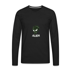 Military Alien - Men's Premium Long Sleeve T-Shirt