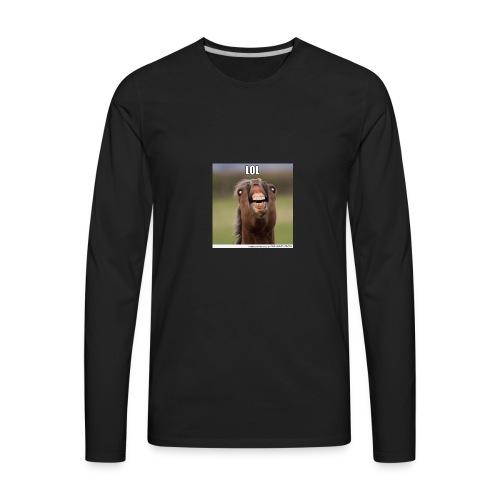 Funny horse - Men's Premium Long Sleeve T-Shirt