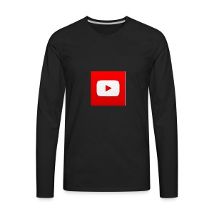 The Youtube Playbutton Logo - Men's Premium Long Sleeve T-Shirt