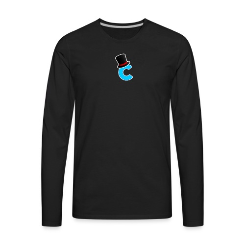 The Letter C With a Hat - Men's Premium Long Sleeve T-Shirt