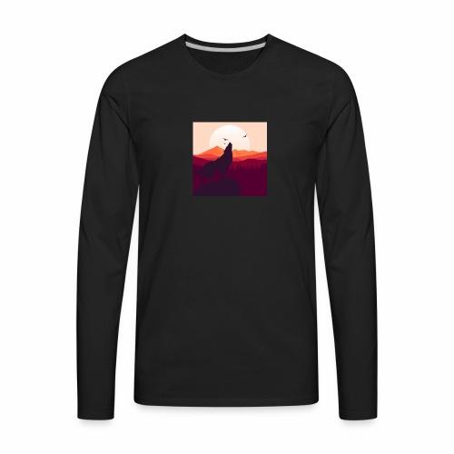 Howling Wolf - Men's Premium Long Sleeve T-Shirt