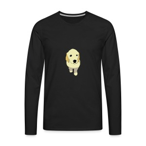 Golden Retriever puppy - Men's Premium Long Sleeve T-Shirt