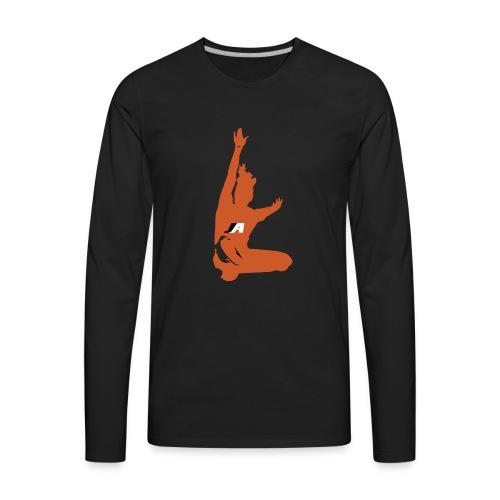 JUMP GIRL LOGO - Men's Premium Long Sleeve T-Shirt