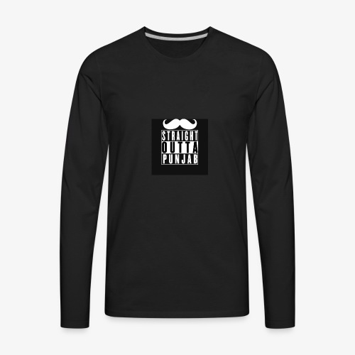 straight outta punjab - Men's Premium Long Sleeve T-Shirt