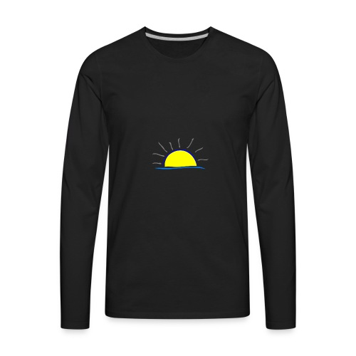 sunset hi - Men's Premium Long Sleeve T-Shirt