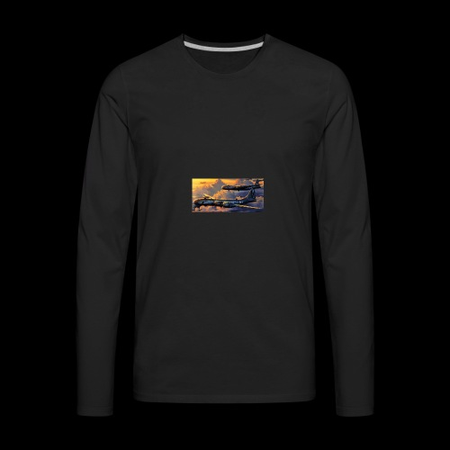 Boeing B29 - Men's Premium Long Sleeve T-Shirt