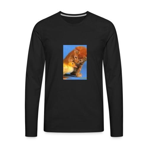 Cat Water Bottle - Men's Premium Long Sleeve T-Shirt