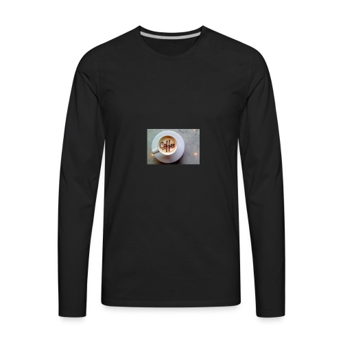 Coffee - Men's Premium Long Sleeve T-Shirt