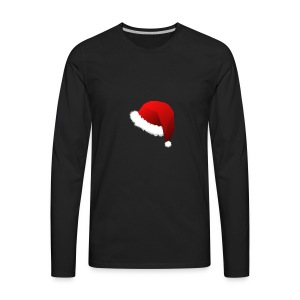 Carmaa Santa Hat Christmas Apparel - Men's Premium Long Sleeve T-Shirt
