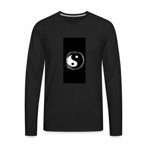 Diamond savage yin yang - Men's Premium Long Sleeve T-Shirt