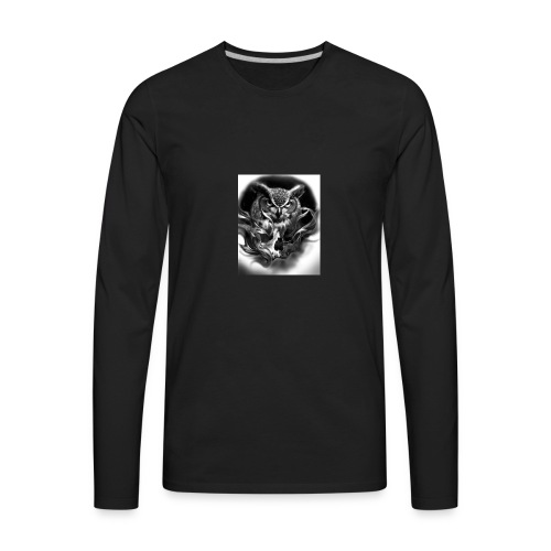 Owl of death - Men's Premium Long Sleeve T-Shirt