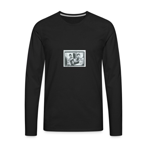 behind the bar - Men's Premium Long Sleeve T-Shirt