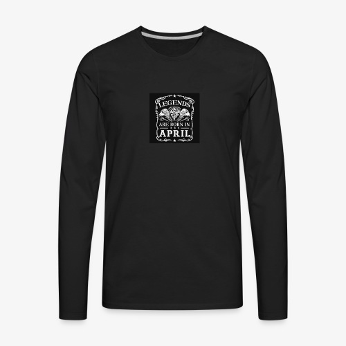 April - Men's Premium Long Sleeve T-Shirt