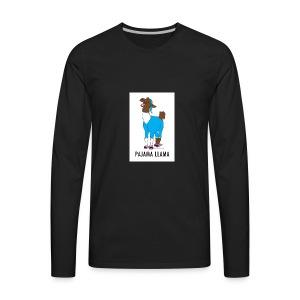 PAJAMA LLAMA - Men's Premium Long Sleeve T-Shirt