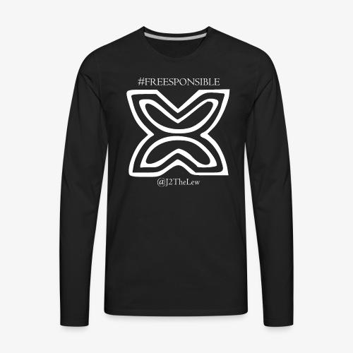 Freedom Symbol White - Men's Premium Long Sleeve T-Shirt