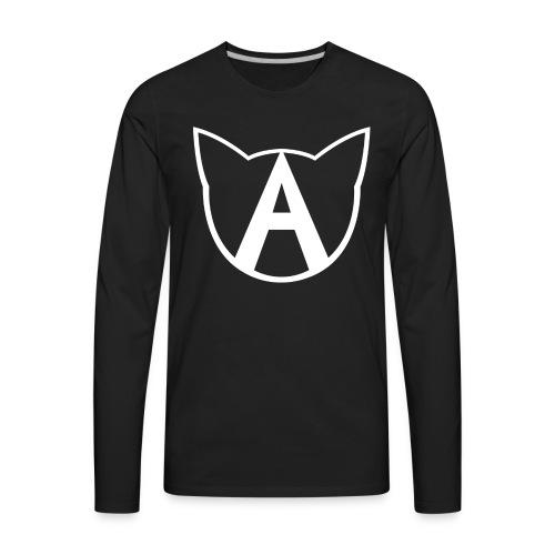 AllycatYT Logo White Outline - Men's Premium Long Sleeve T-Shirt