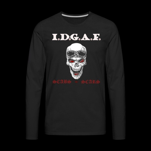 IDGAF - Men's Premium Long Sleeve T-Shirt