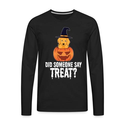 Golden Retriever Halloween Costume Funny Dog Shirt - Men's Premium Long Sleeve T-Shirt