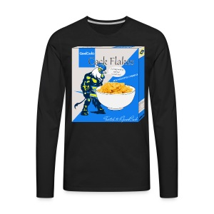 CockFlakes! Ya know for kids! - Men's Premium Long Sleeve T-Shirt