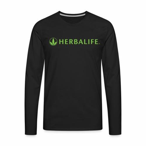 Herbalife Green Logo - Men's Premium Long Sleeve T-Shirt
