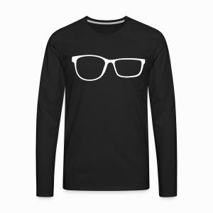 ZobGlasses White - Men's Premium Long Sleeve T-Shirt