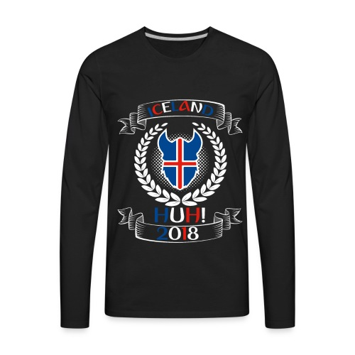 Iceland - Iceland HUH! t-shirt of world cup Russia - Men's Premium Long Sleeve T-Shirt