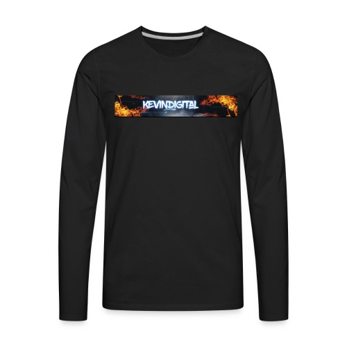 KevinDigital Black - Men's Premium Long Sleeve T-Shirt