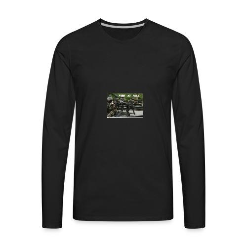 fire at will - Men's Premium Long Sleeve T-Shirt