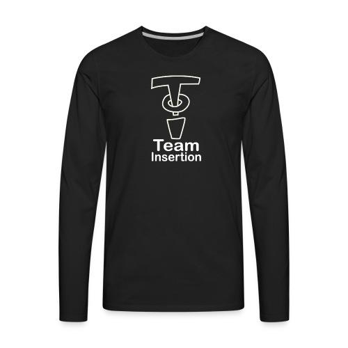 Team Insertion White - Men's Premium Long Sleeve T-Shirt