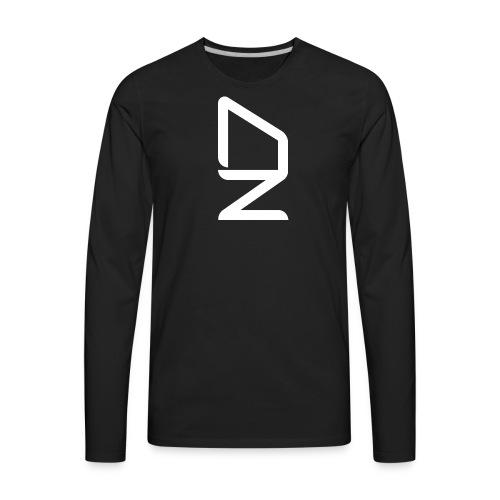 DZ logoWhite - Men's Premium Long Sleeve T-Shirt