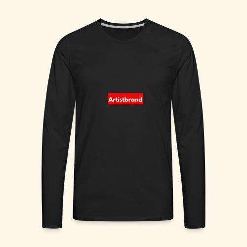 Artist Brand box logo - Men's Premium Long Sleeve T-Shirt