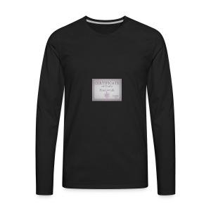 Certificate of God's handiwork - Men's Premium Long Sleeve T-Shirt