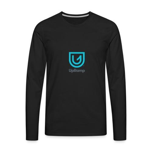 UpRamp Logo Blue Stacked ColorWhite - Men's Premium Long Sleeve T-Shirt