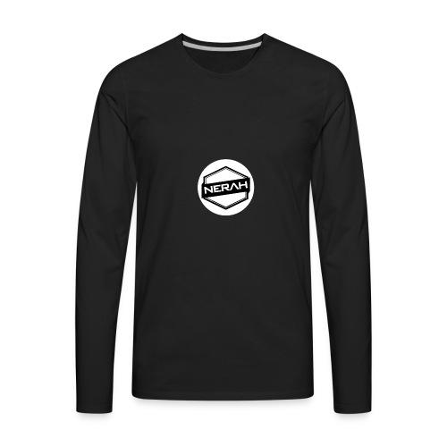 White Nerah Logo - Men's Premium Long Sleeve T-Shirt