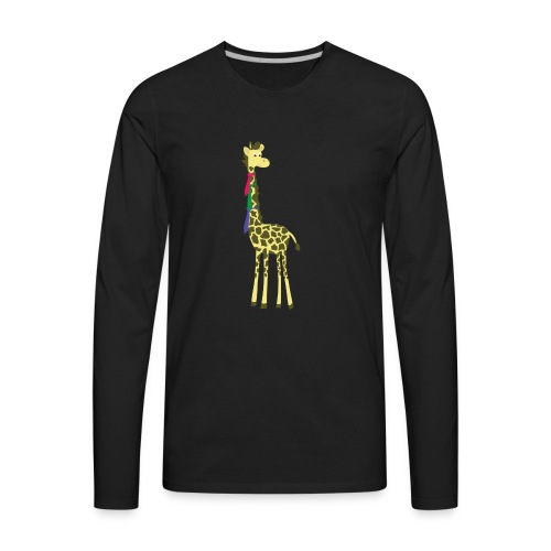 giraffes spend a lot on ties... - Men's Premium Long Sleeve T-Shirt