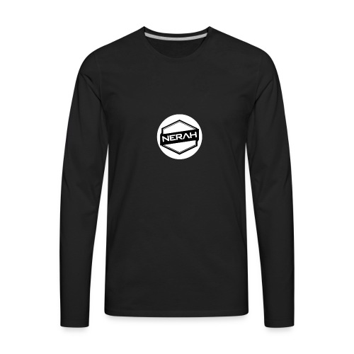 White Nerah Logo - Men's Premium Long Sleeve T-Shirt