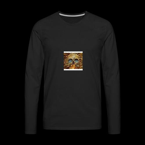 Golden skull - Men's Premium Long Sleeve T-Shirt