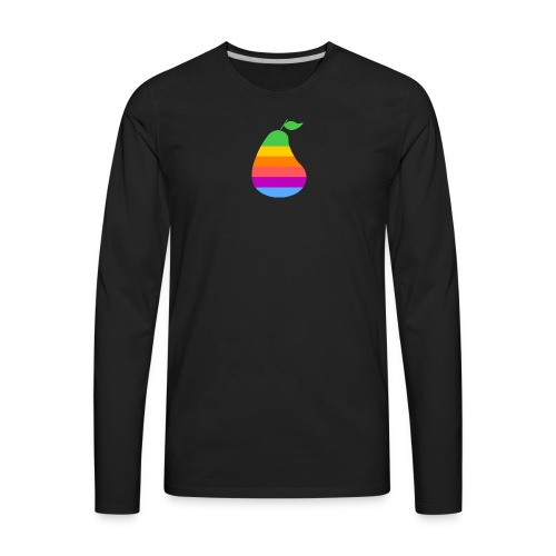Retro Pear - Men's Premium Long Sleeve T-Shirt