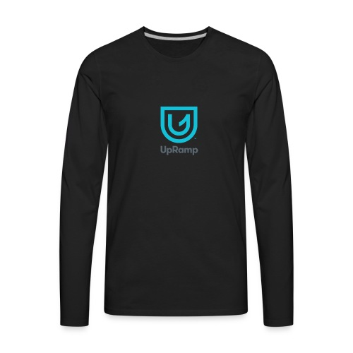 UpRamp Logo Blue Stacked ColorWhite - Men's Premium Long Sleeve T-Shirt