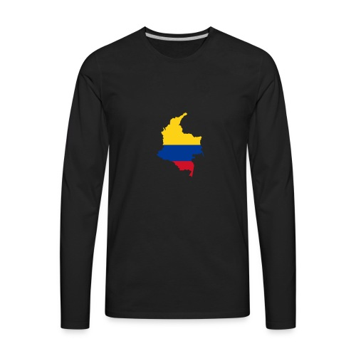colombia mapa - Men's Premium Long Sleeve T-Shirt