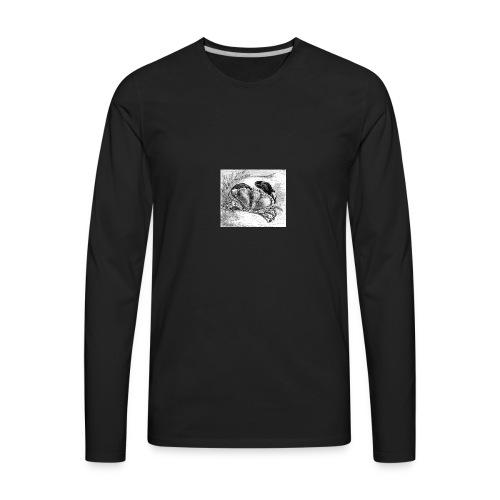 Crab Drawing - Men's Premium Long Sleeve T-Shirt