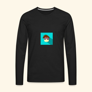 NixVidz Youtube logo - Men's Premium Long Sleeve T-Shirt