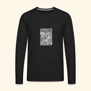 Black and white tigerprint - Men's Premium Long Sleeve T-Shirt