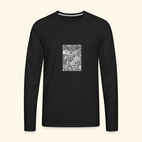 Black and white tigerprint - Men's Premium Long Sleeve T-Shirt