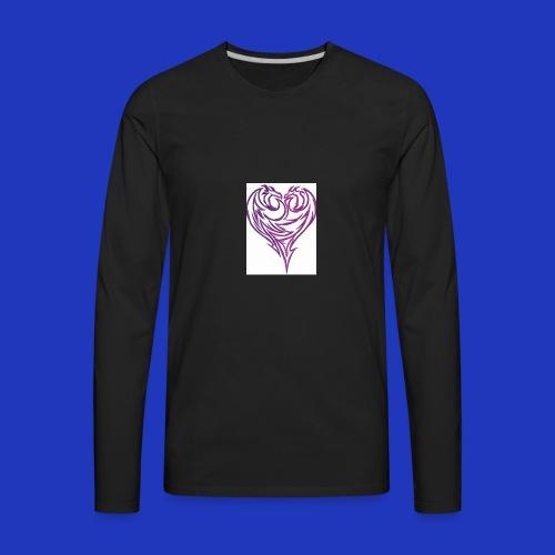 Jikjak heart - Men's Premium Long Sleeve T-Shirt