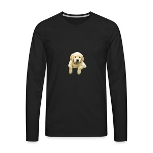 Labrador puppy climbing - Men's Premium Long Sleeve T-Shirt