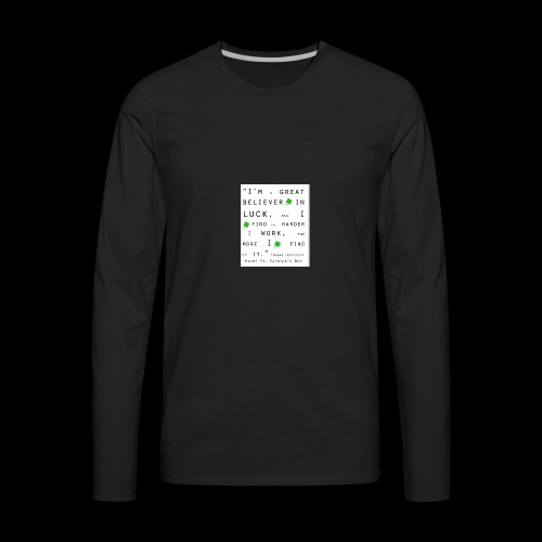 Believer in Luck - Men's Premium Long Sleeve T-Shirt