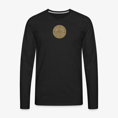 Peace Symbol Khaki - Men's Premium Long Sleeve T-Shirt