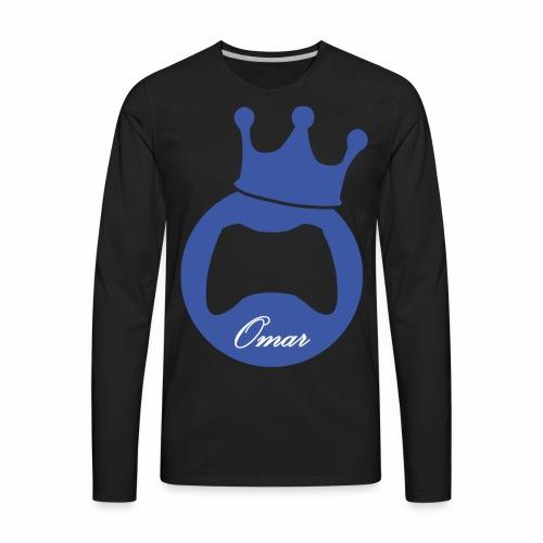Logo lThekingomar - Men's Premium Long Sleeve T-Shirt